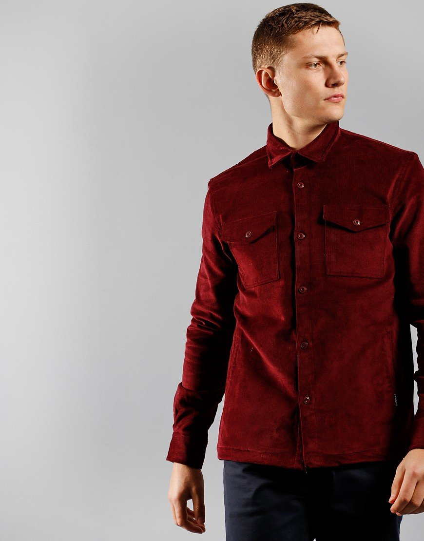Barbour Cord Overshirt Ruby