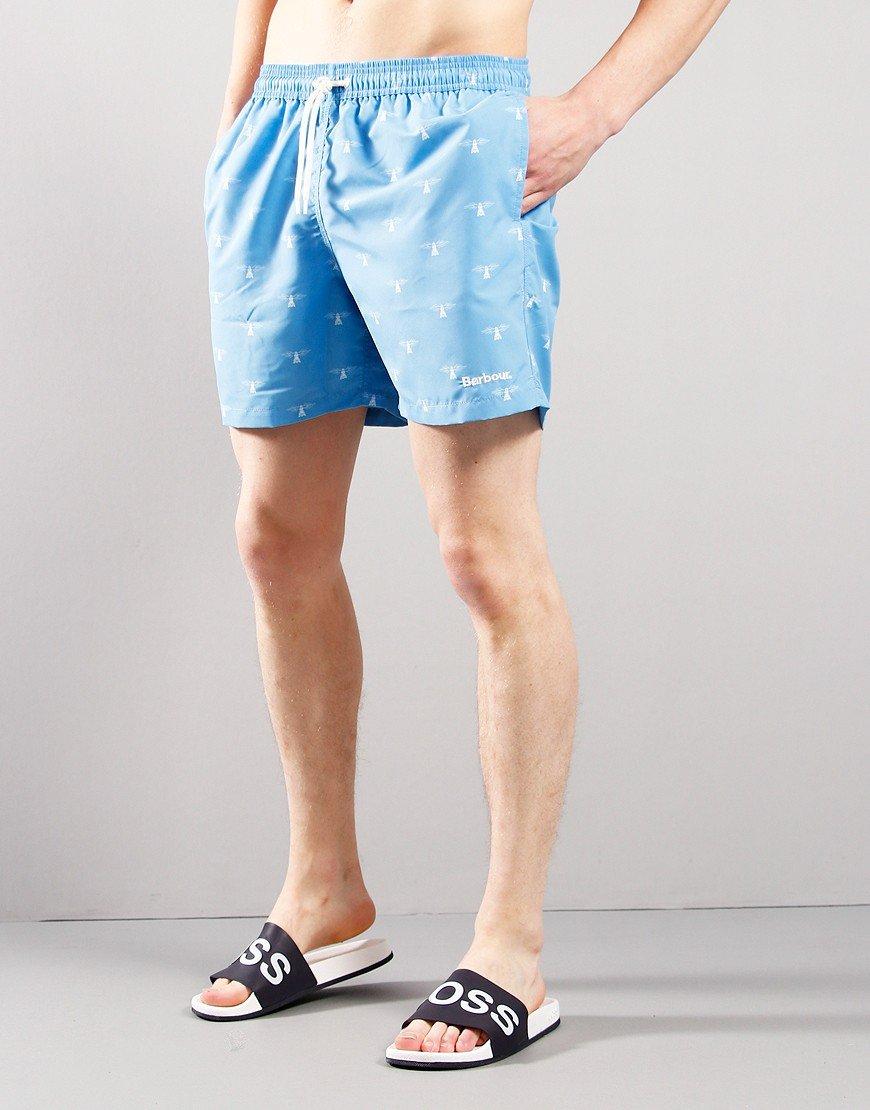 Barbour Coastal Swim Shorts Light Blue