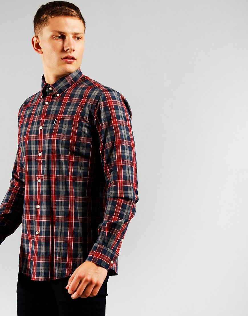 Barbour Country Check 1 Shirt Navy