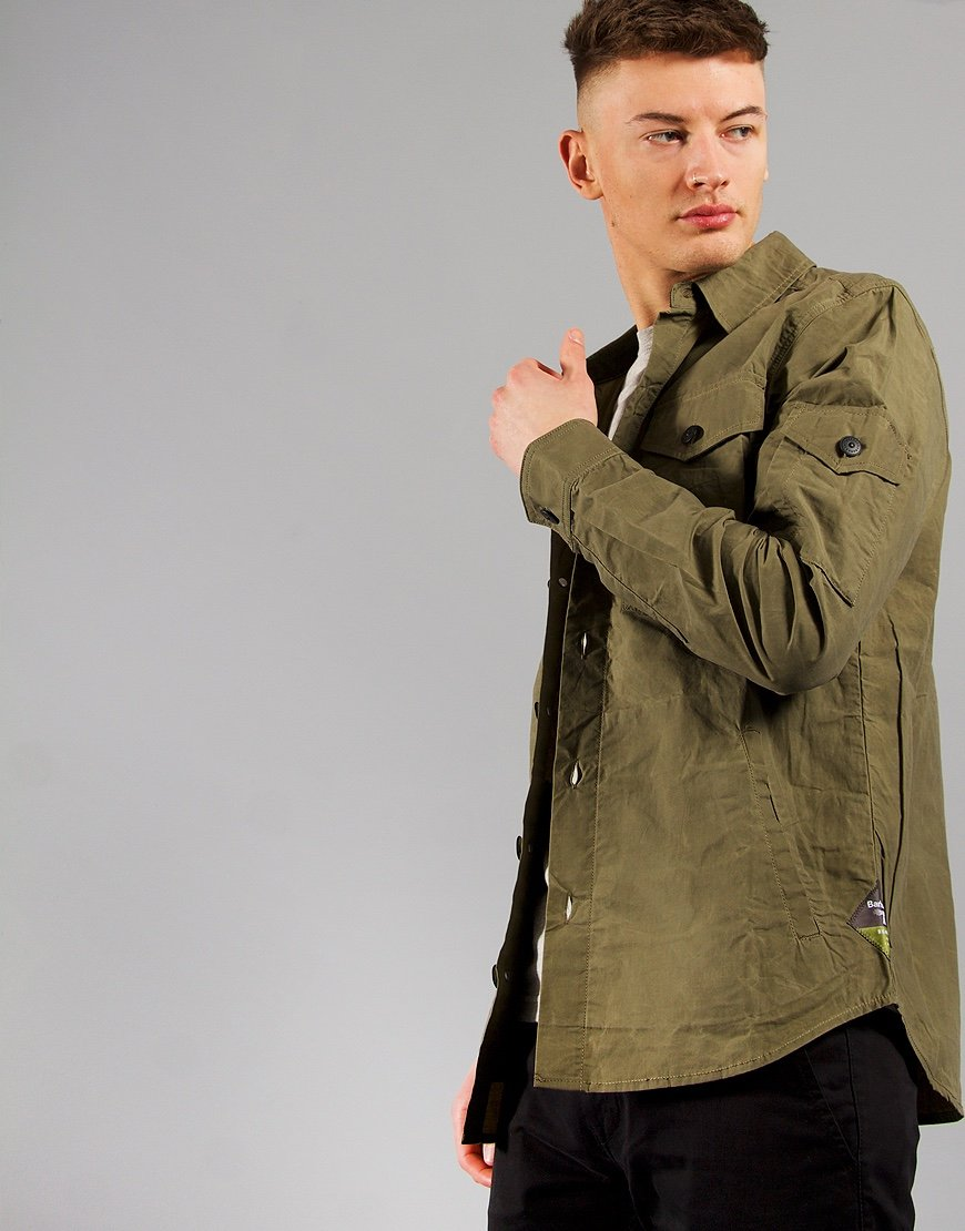 Barbour Dalby Overshirt Dusky Green