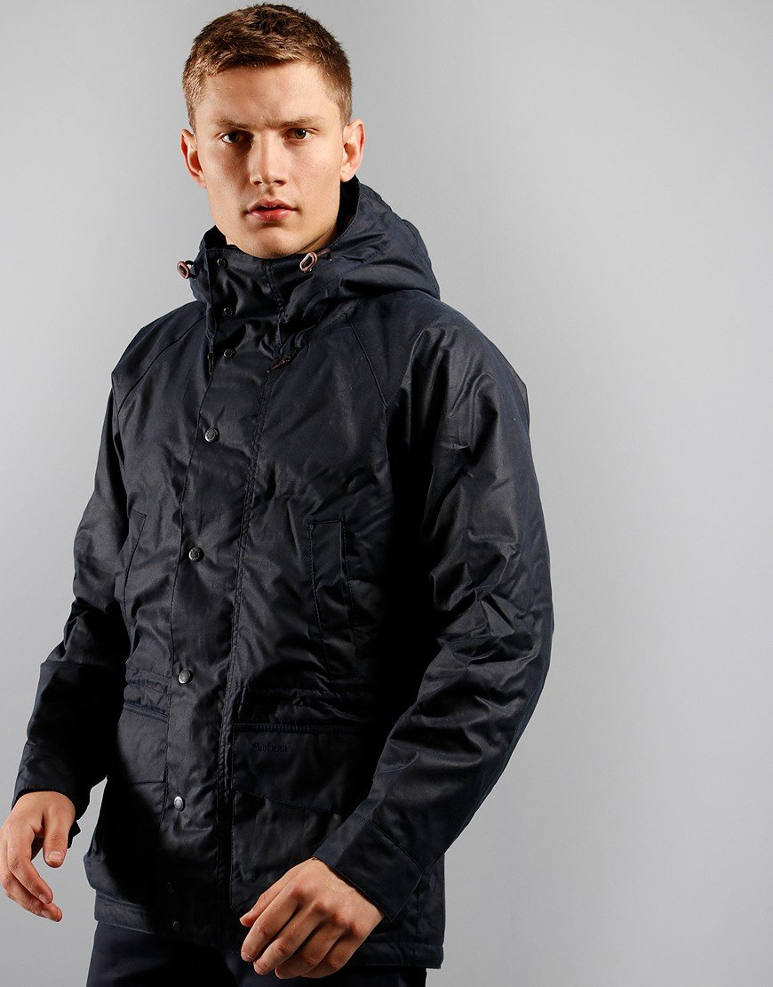 Barbour Dennon Wax Jacket Royal Navy