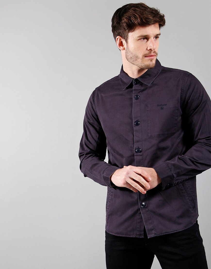 Barbour Dunrobin Twill Overshirt Navy