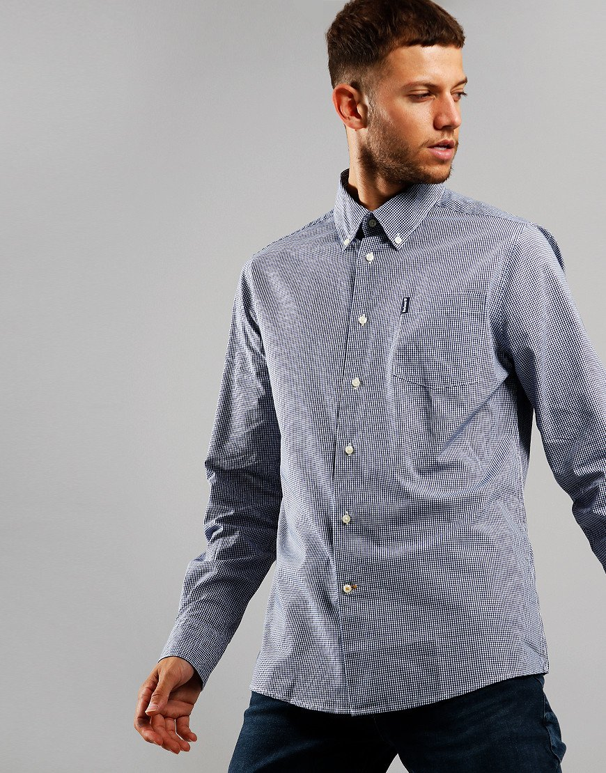 Barbour Gingham 10 Tailored Long Sleeve Shirt Inky