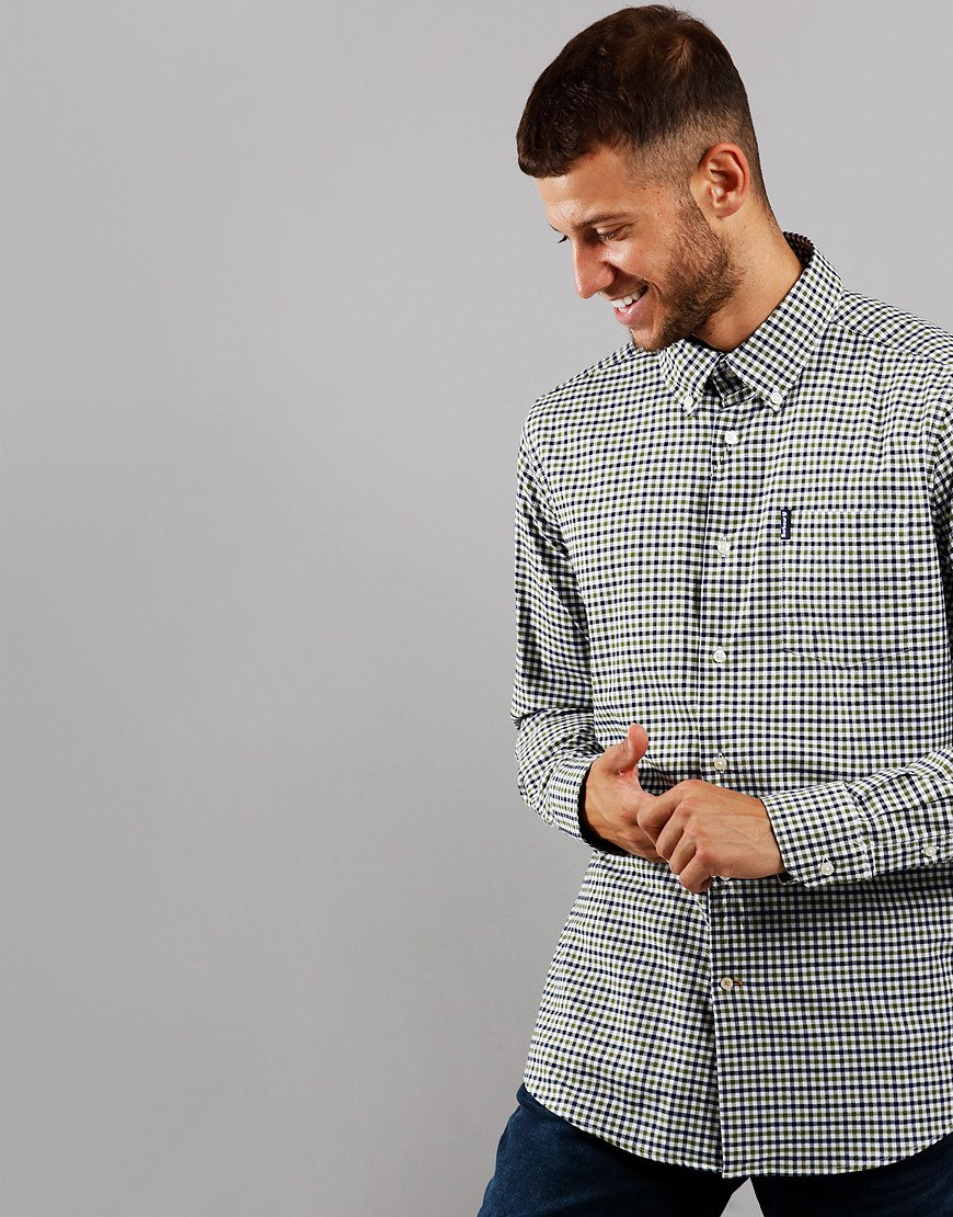 Barbour Gingham 11 Tailored Long Sleeve Shirt Forest