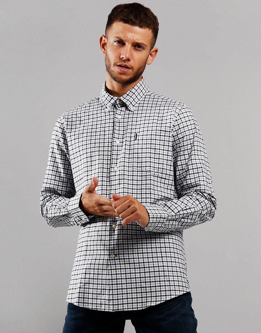 Barbour Gingham 11 Tailored Long Sleeve Shirt Grey