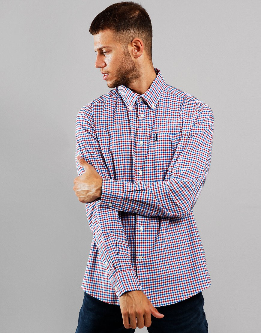 Barbour Gingham 11 Tailored Long Sleeve Shirt Red