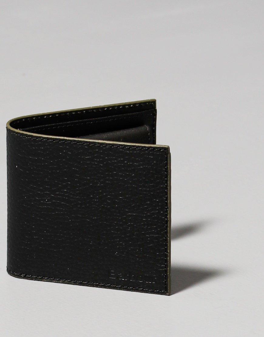 Barbour Grain Leather Wallet Black