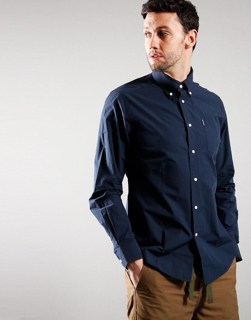 Barbour Headshaw Long Sleeve Poplin Shirt Navy