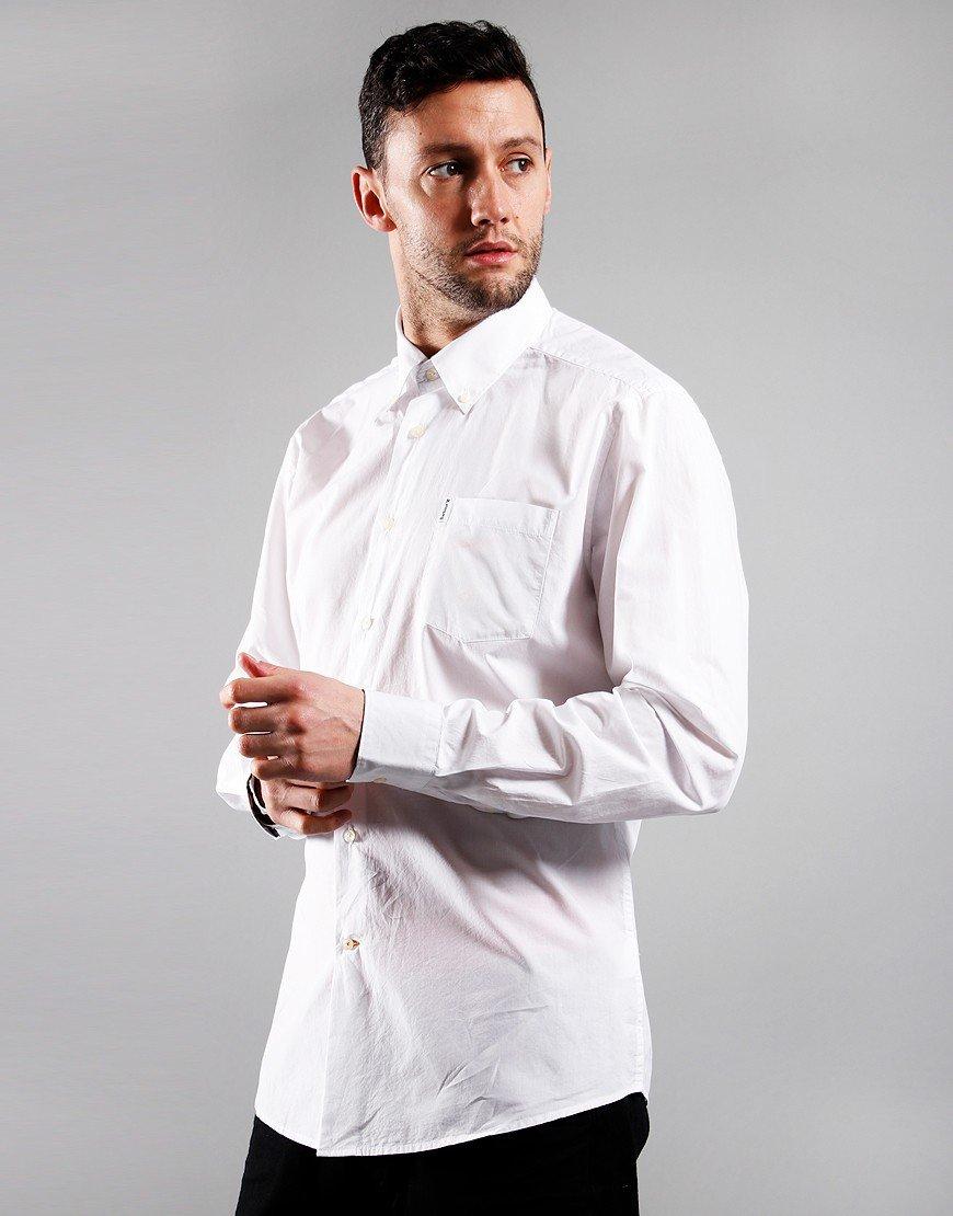 Barbour Headshaw Long Sleeve Poplin Shirt White