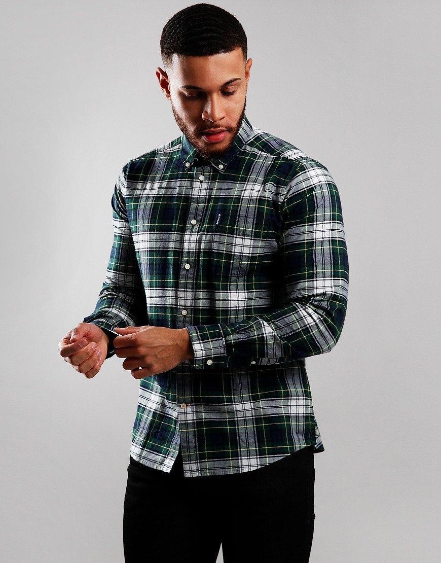 Barbour Highland Check 11 Tailored Long Sleeve Shirt Green