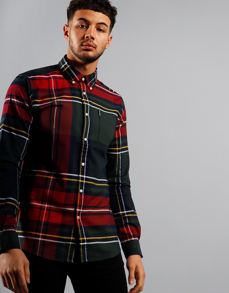 Barbour Highland Check 23 Tailored Long Sleeve Shirt Navy
