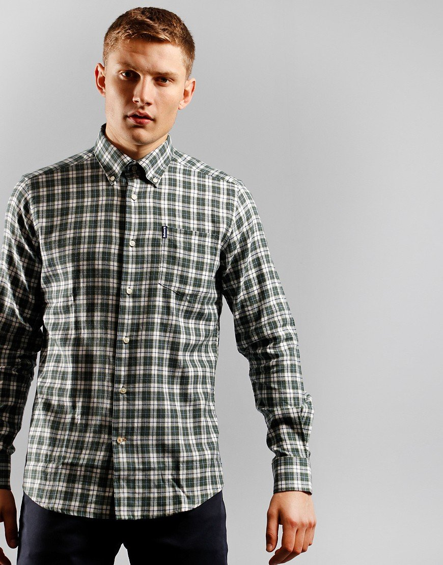 Barbour Eco 3 Long Sleeve Shirt Green