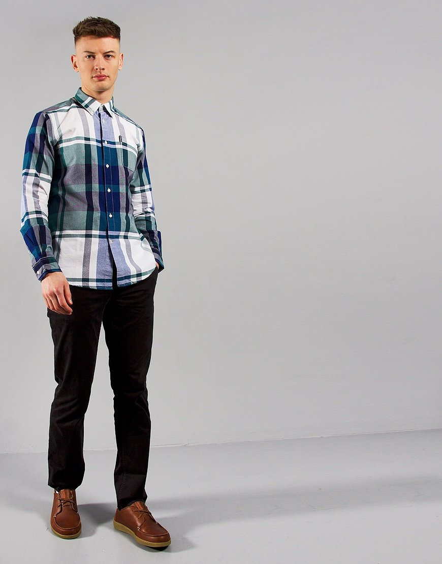 Barbour Highland Check 23 Tailored Long Sleeve Shirt Green