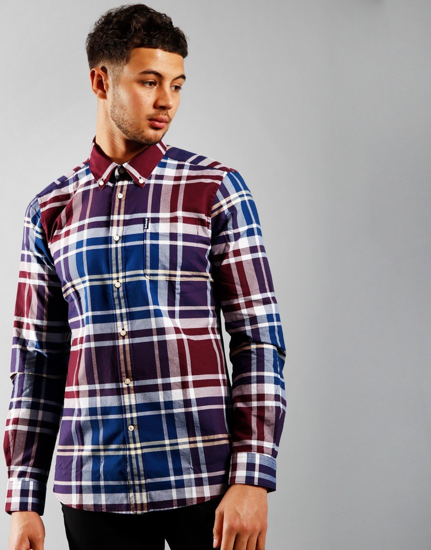 Barbour Highland Check 23 Tailored Long Sleeve Shirt Merlot