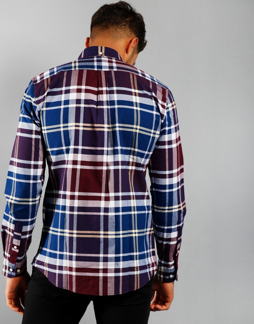 Barbour Highland Check 23 Tailored Long Sleeve Shirt Merlot