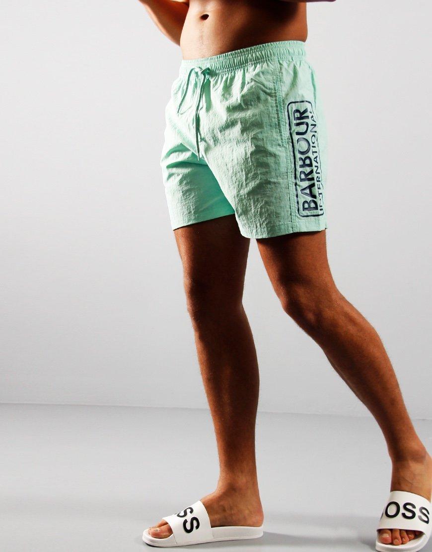 Barbour International Large Logo Swim Shorts Peppermint