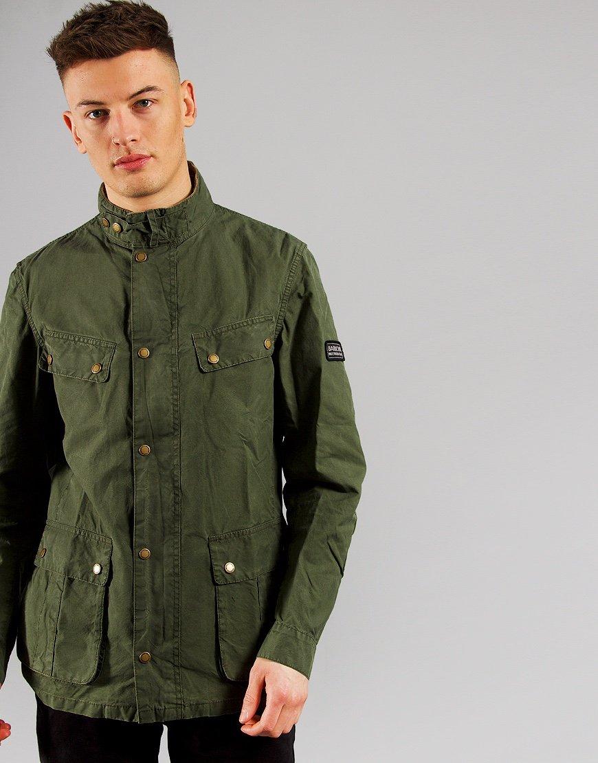 Barbour International Summer Wash Duke Casual Jacket Green