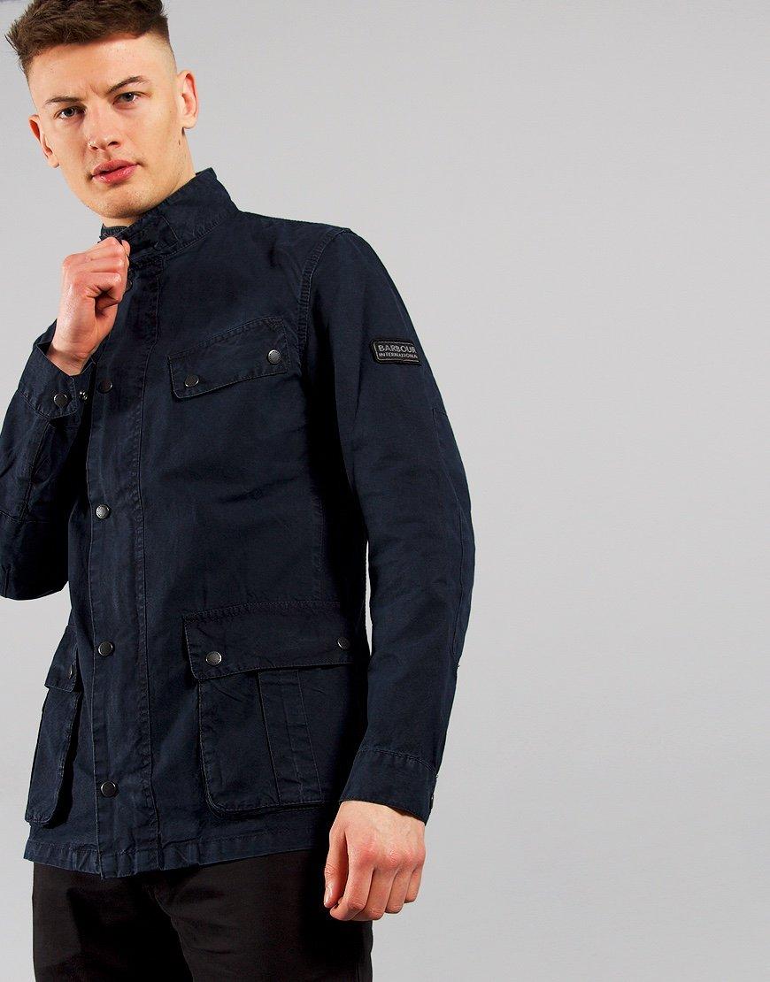 Barbour International Summer Wash Duke Casual Jacket Navy