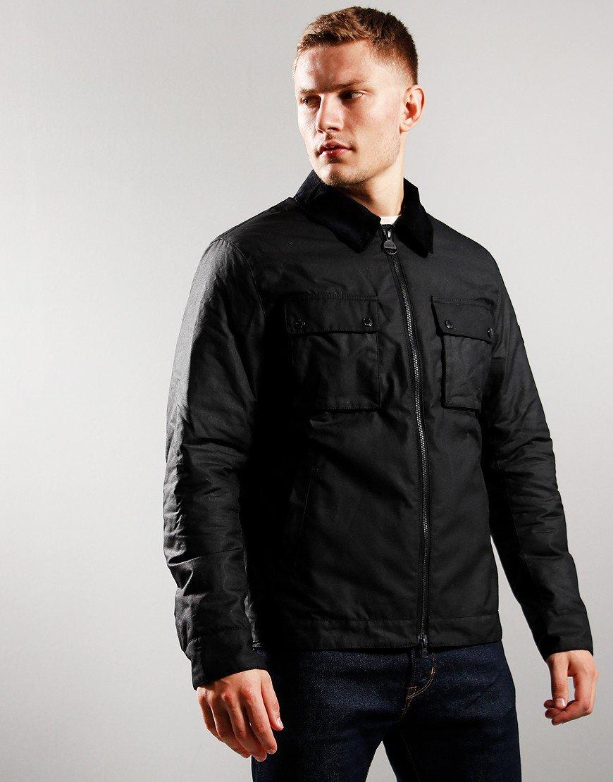 Barbour International Accelerator Baffins Wax Jacket Black
