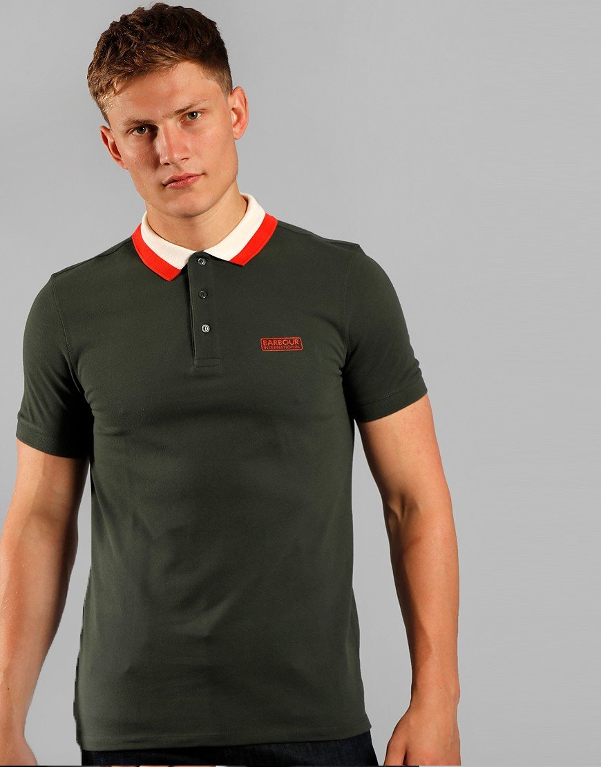 Barbour Ampere Polo Shirt  Jungle Green
