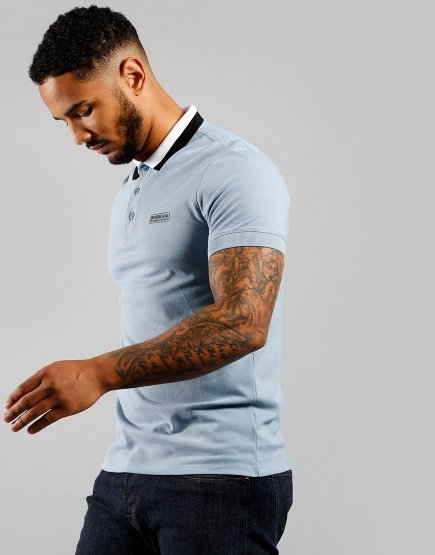 Barbour Ampere Polo Shirt Powder Blue