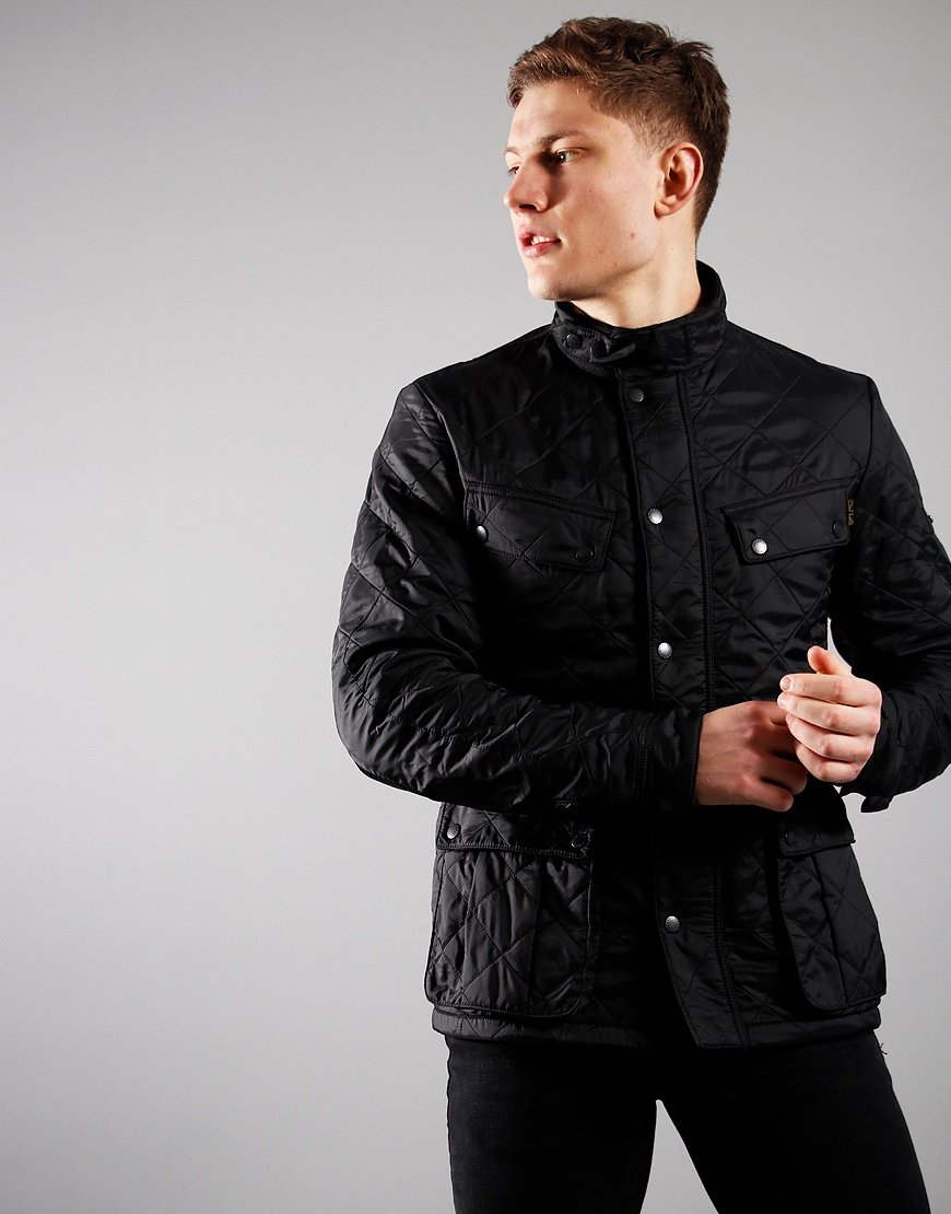 Barbour International Ariel Polarquilt  Jacket Black