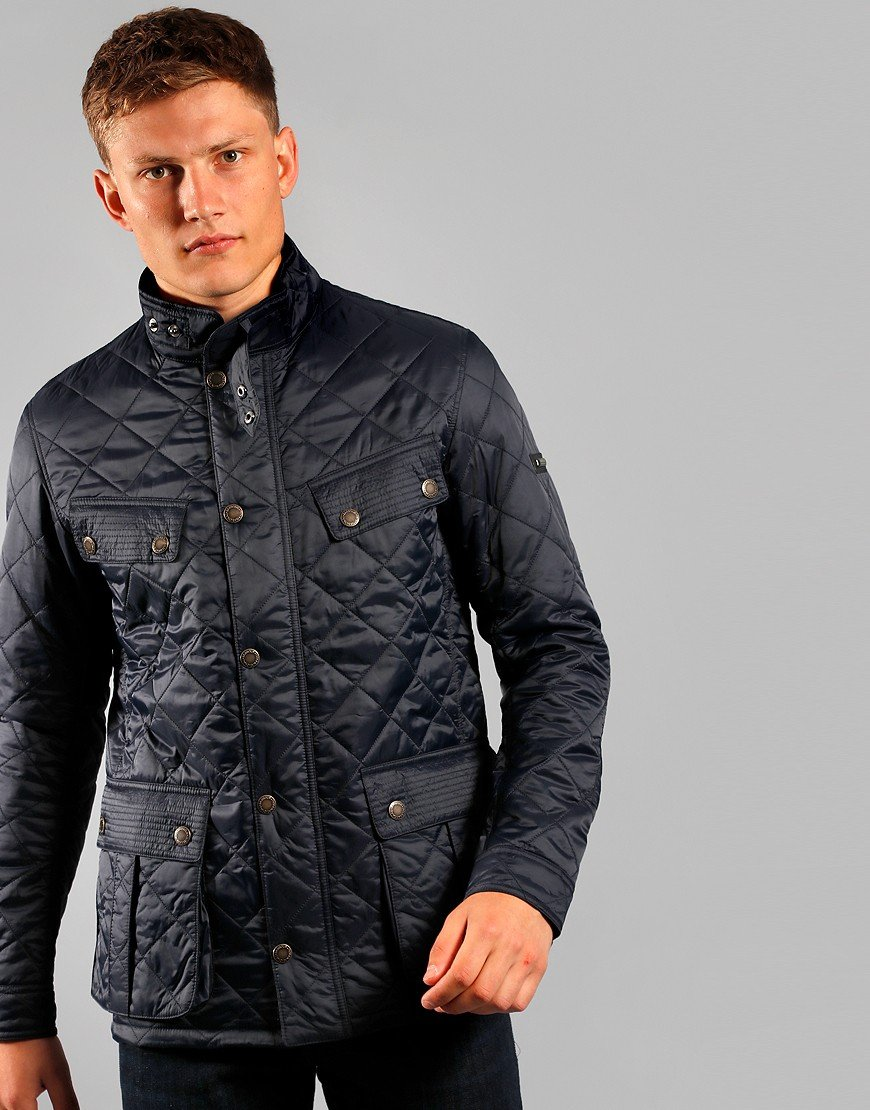 Barbour International Ariel Profile Quilted Jacket Navy