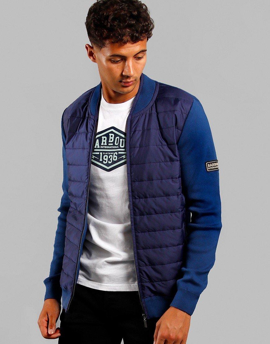 Barbour International Baffle Zip Jacket Deep Blue