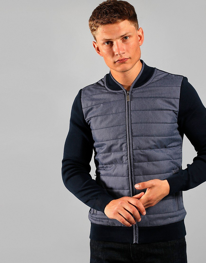 Barbour International Baffle Zip Jacket Navy