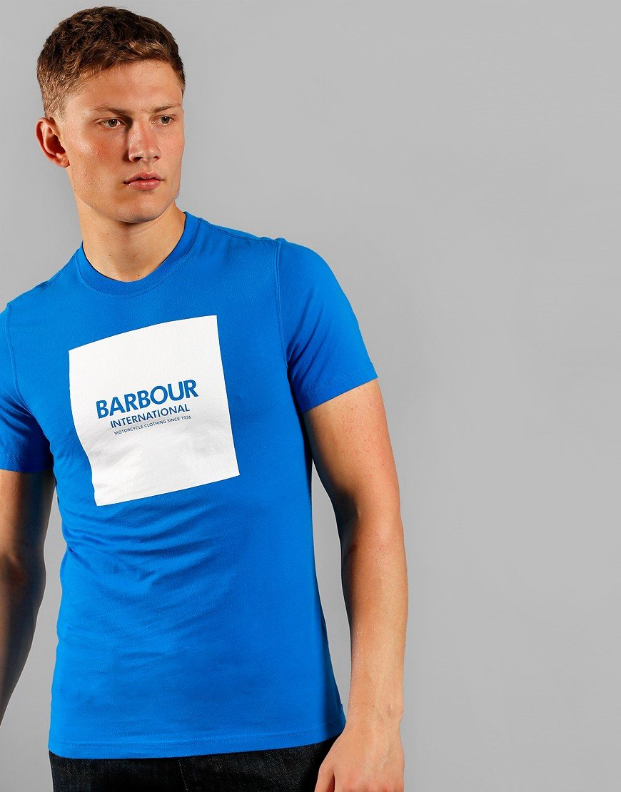 Barbour International Block T-Shirt Neela Blue