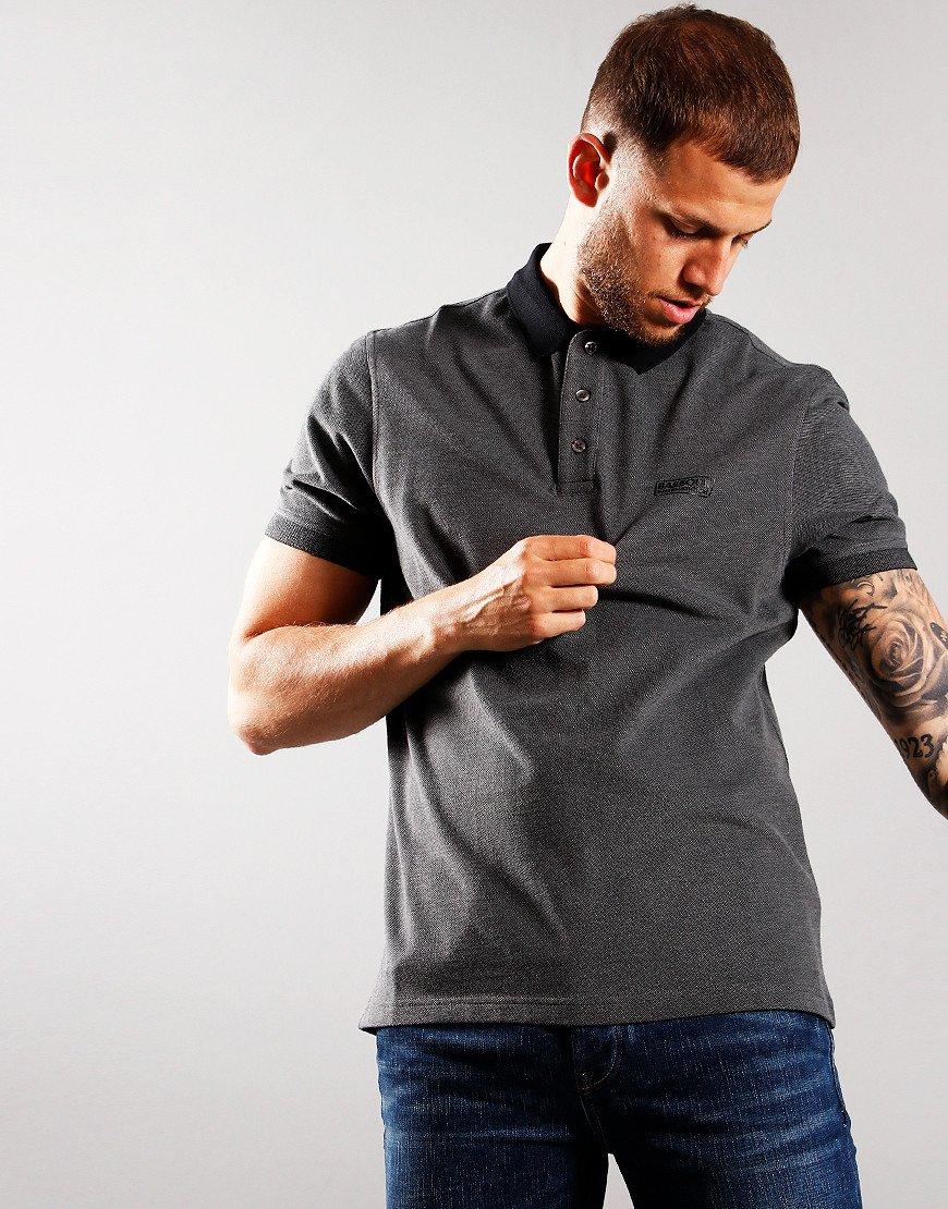 Barbour International Contrast Polo Shirt Black