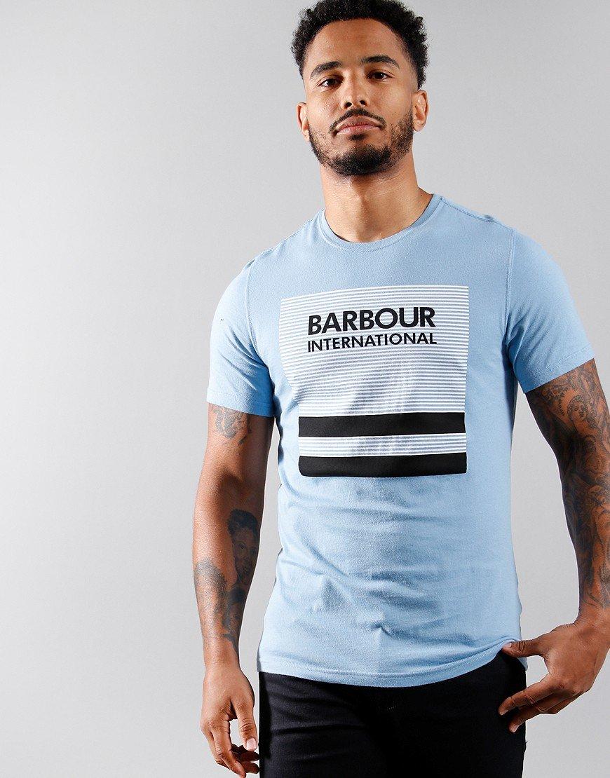 Barbour International Control T-Shirt Cool Blue