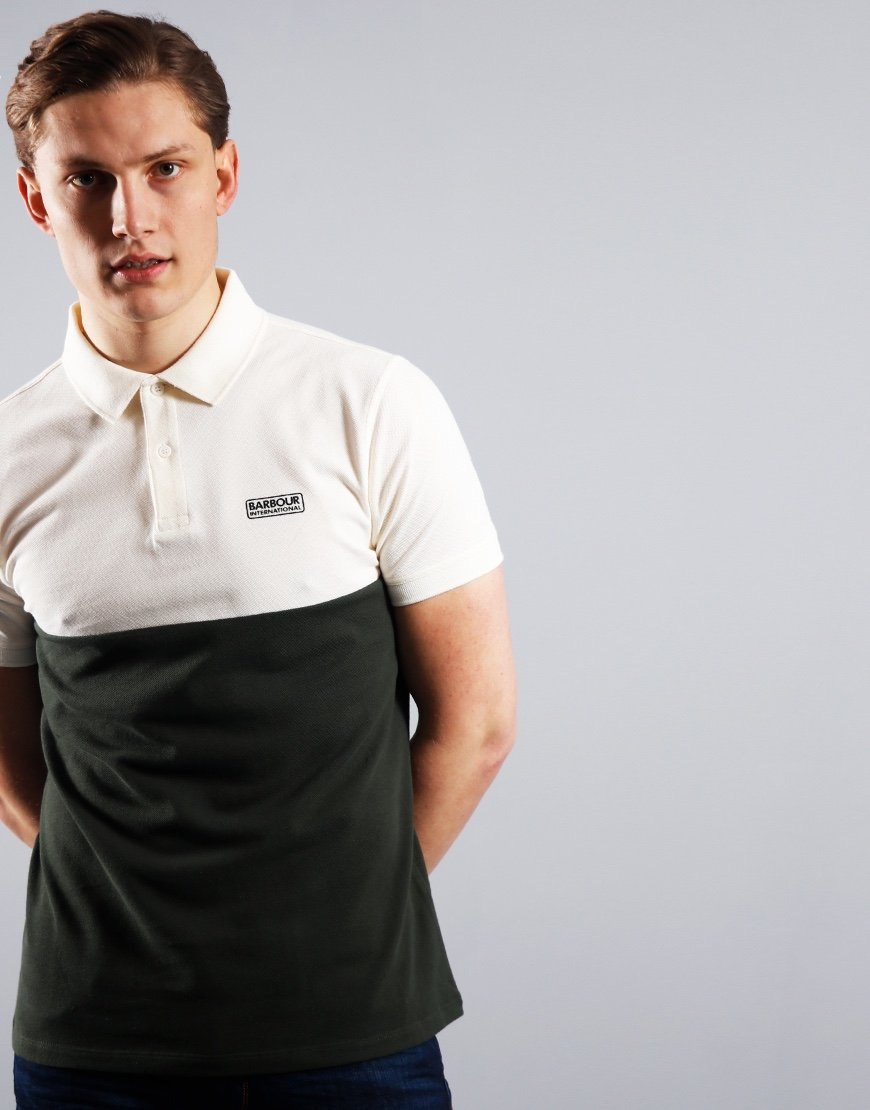 Barbour International Cotter Polo Shirt White