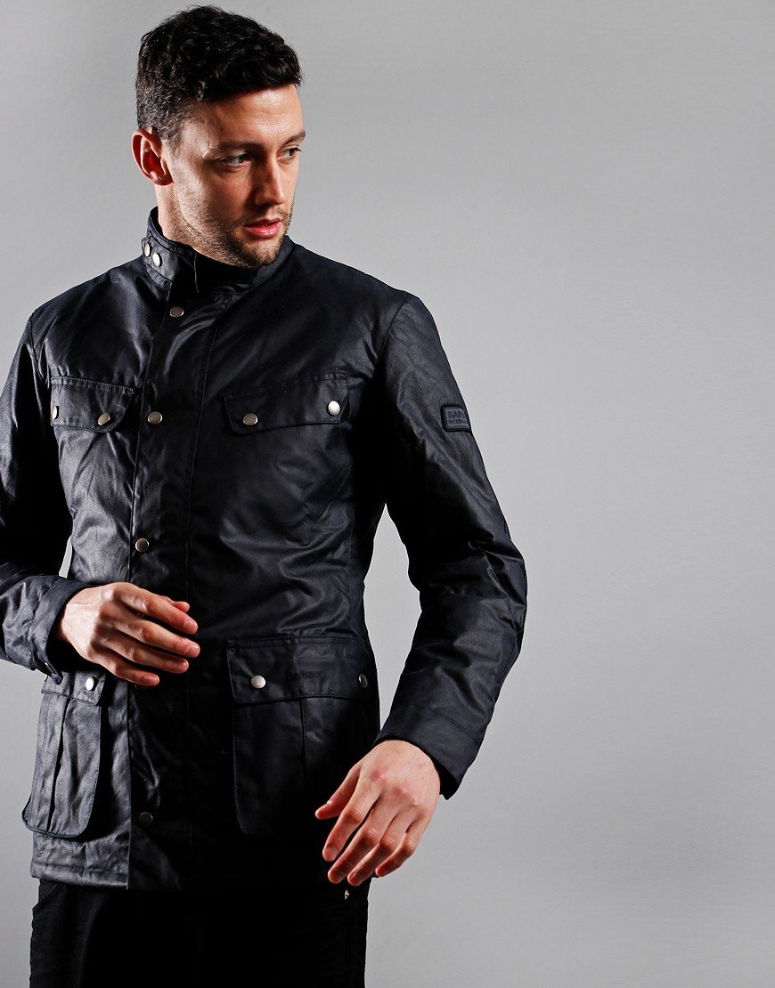 Barbour International Duke Wax Jacket Navy