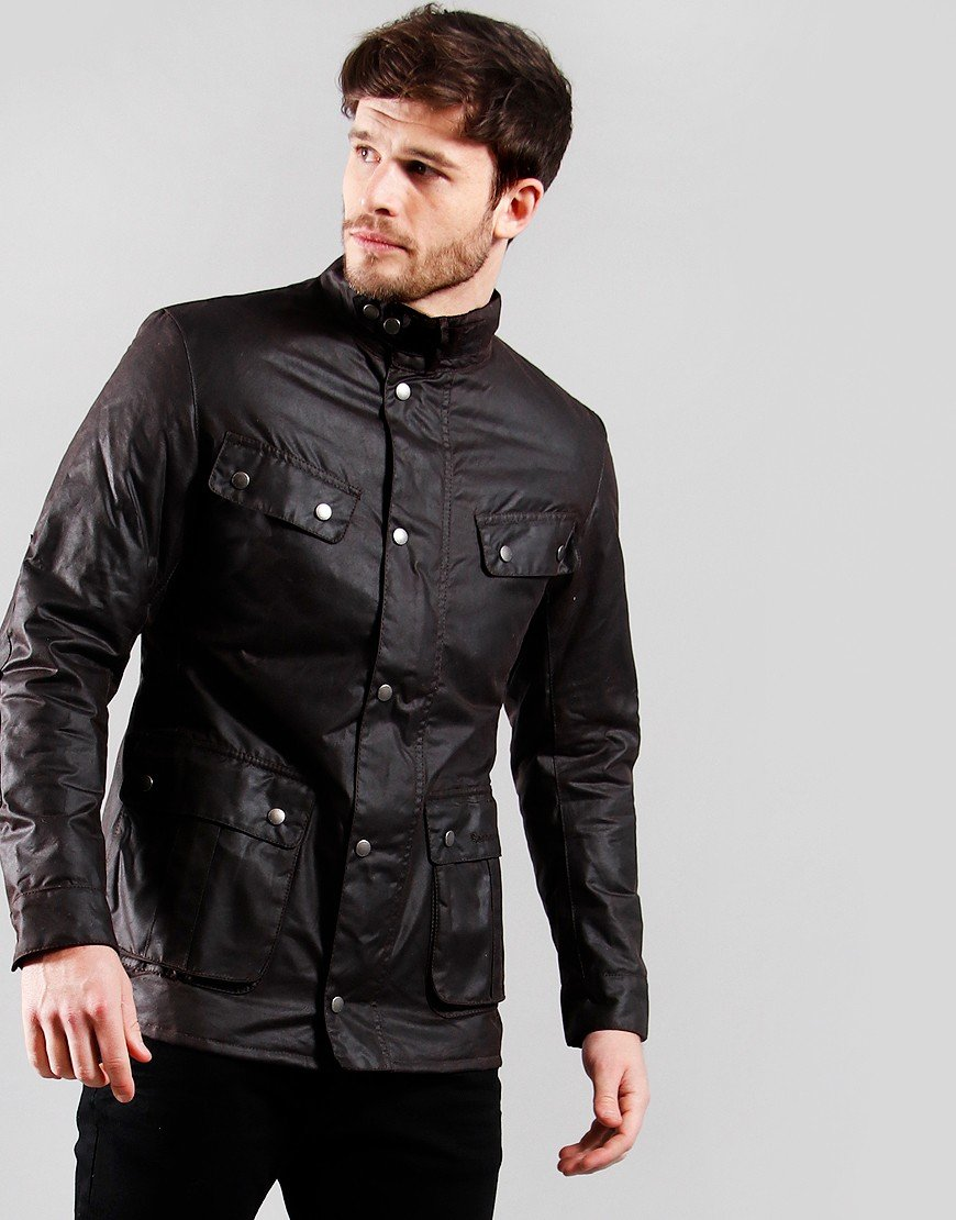 Barbour International Duke Wax Jacket   Rustic