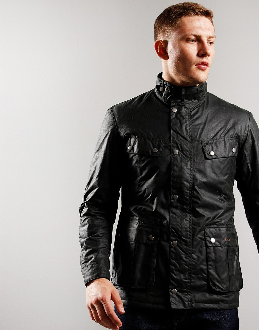 Barbour International Duke Wax Jacket Sage