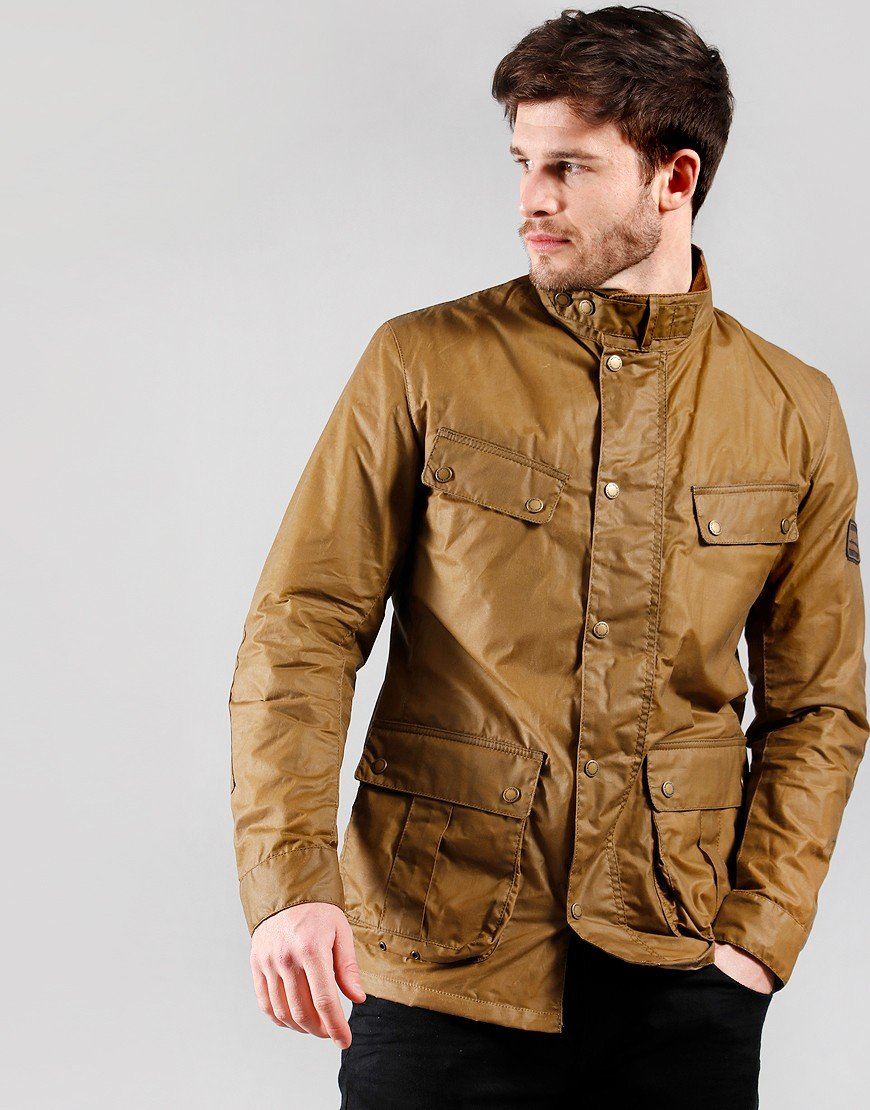 Barbour International Lightweight Duke Wax Jacket Sand