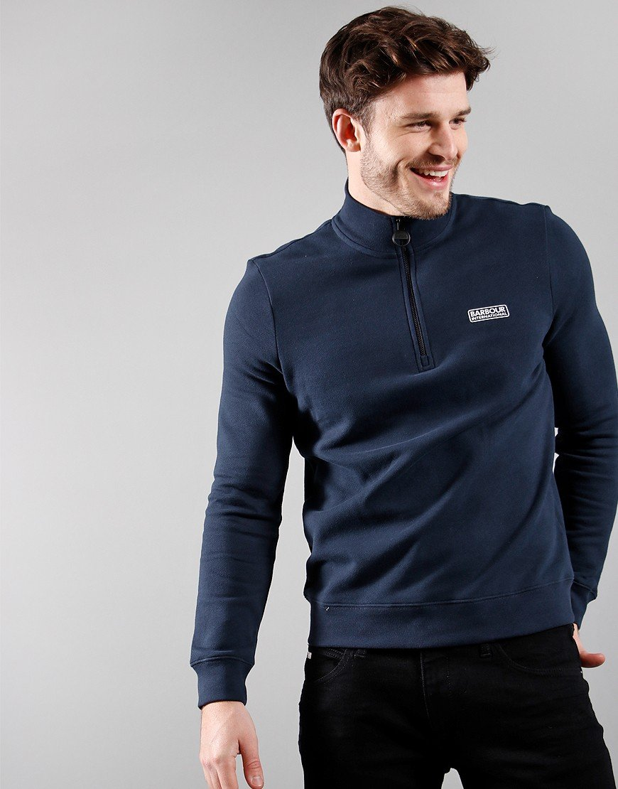 Barbour International Essential Half Zip International Navy