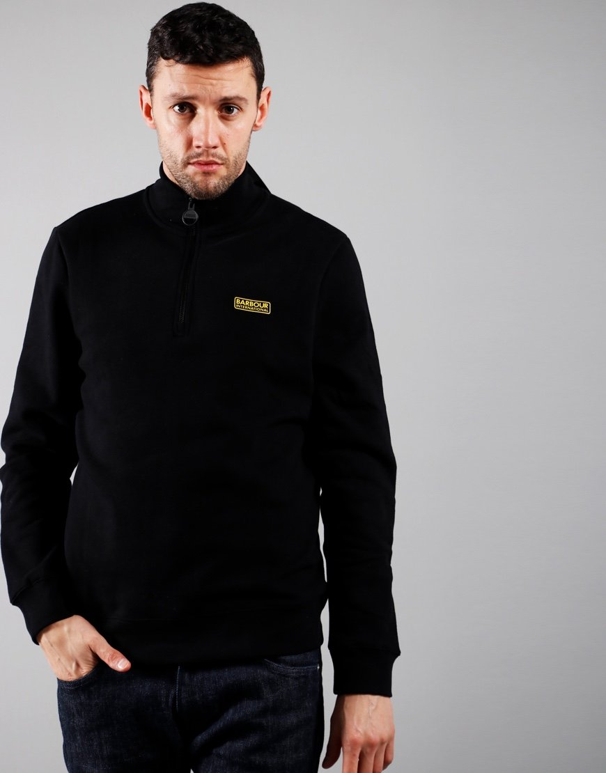 Barbour International Essential Half Zip Sweatshirt Black
