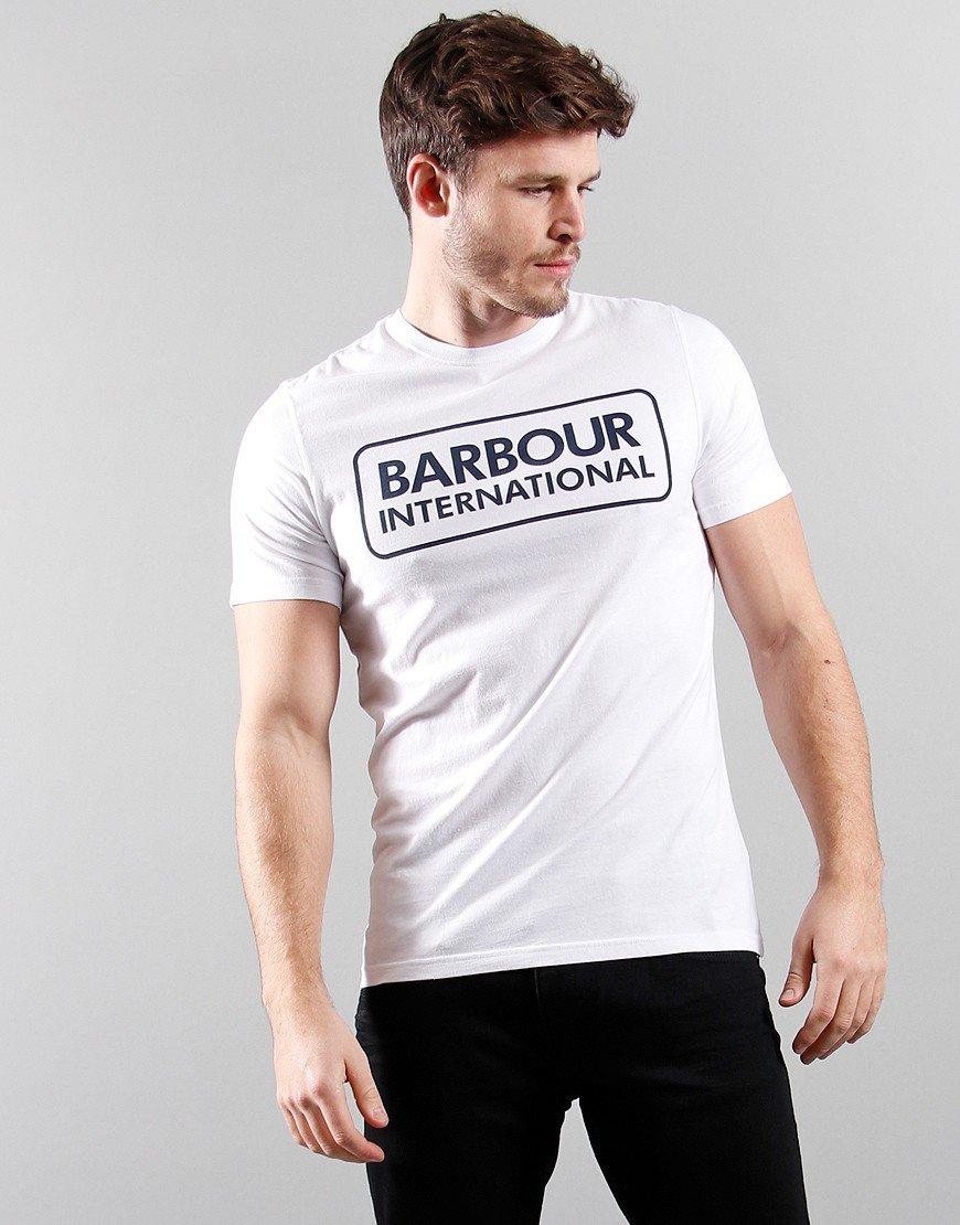 Barbour International Essential Large Logo T-Shirt White