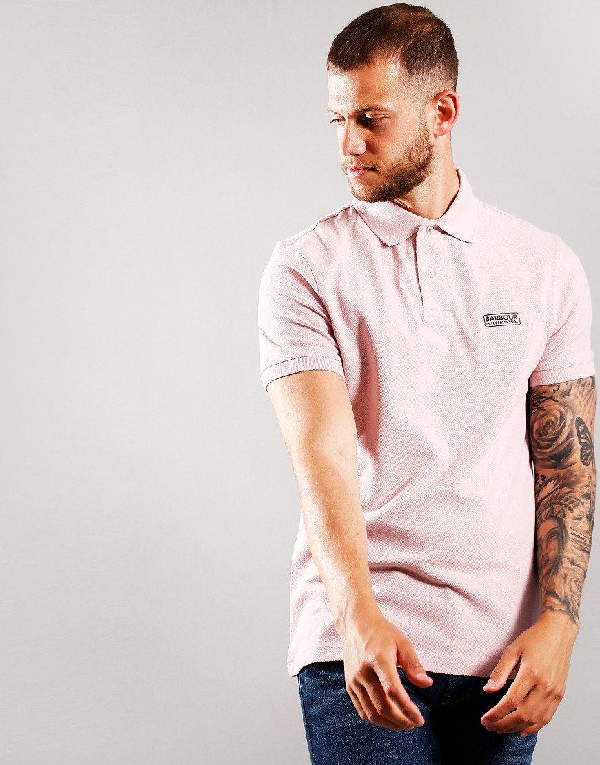 Barbour International Essential Polo Shirt Dusk Pink
