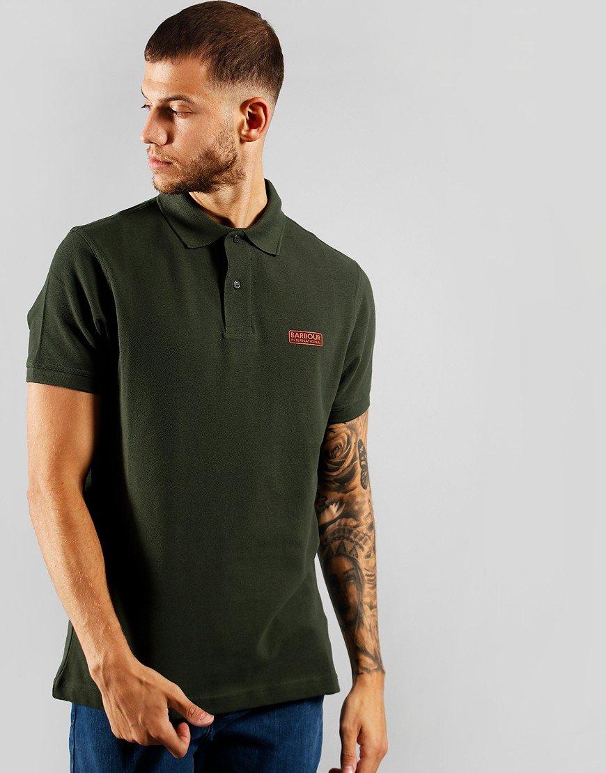 Barbour International Essential Polo Shirt Jungle Green