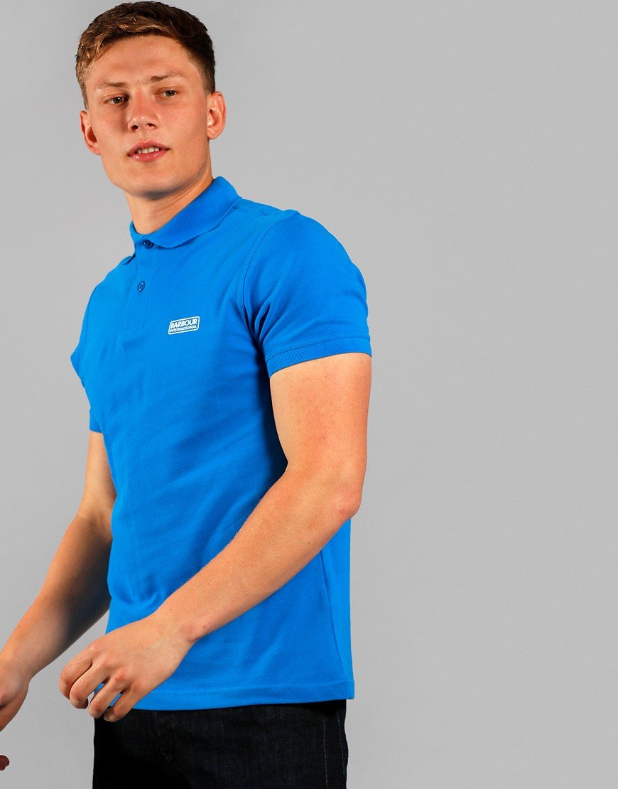 Barbour International Essential Polo Shirt Neela Blue