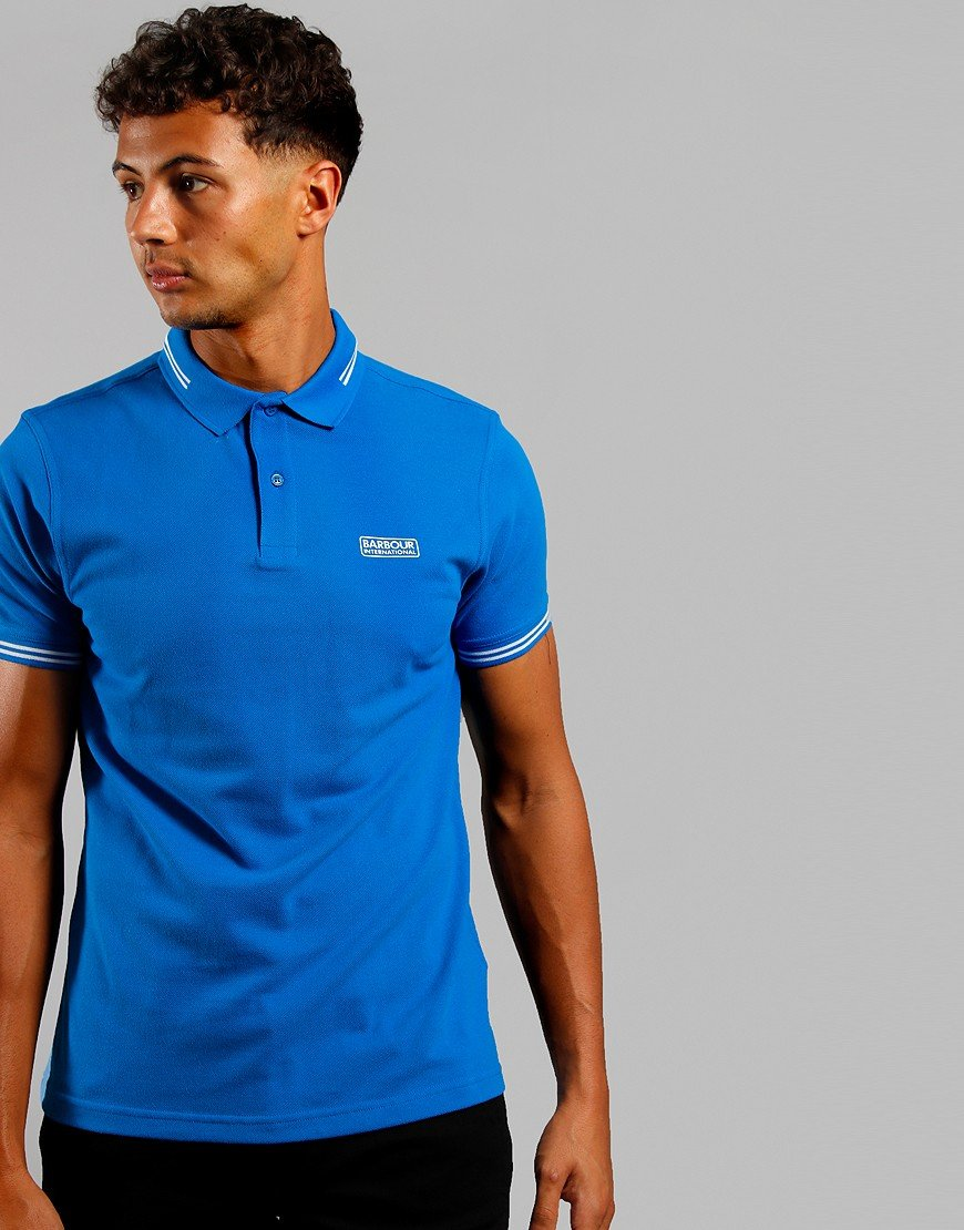 Barbour International Essential Tipped Polo Neela Blue
