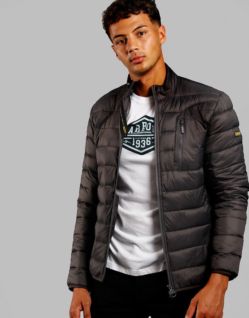 Barbour International Farlam Quilted Jacket Charcoal