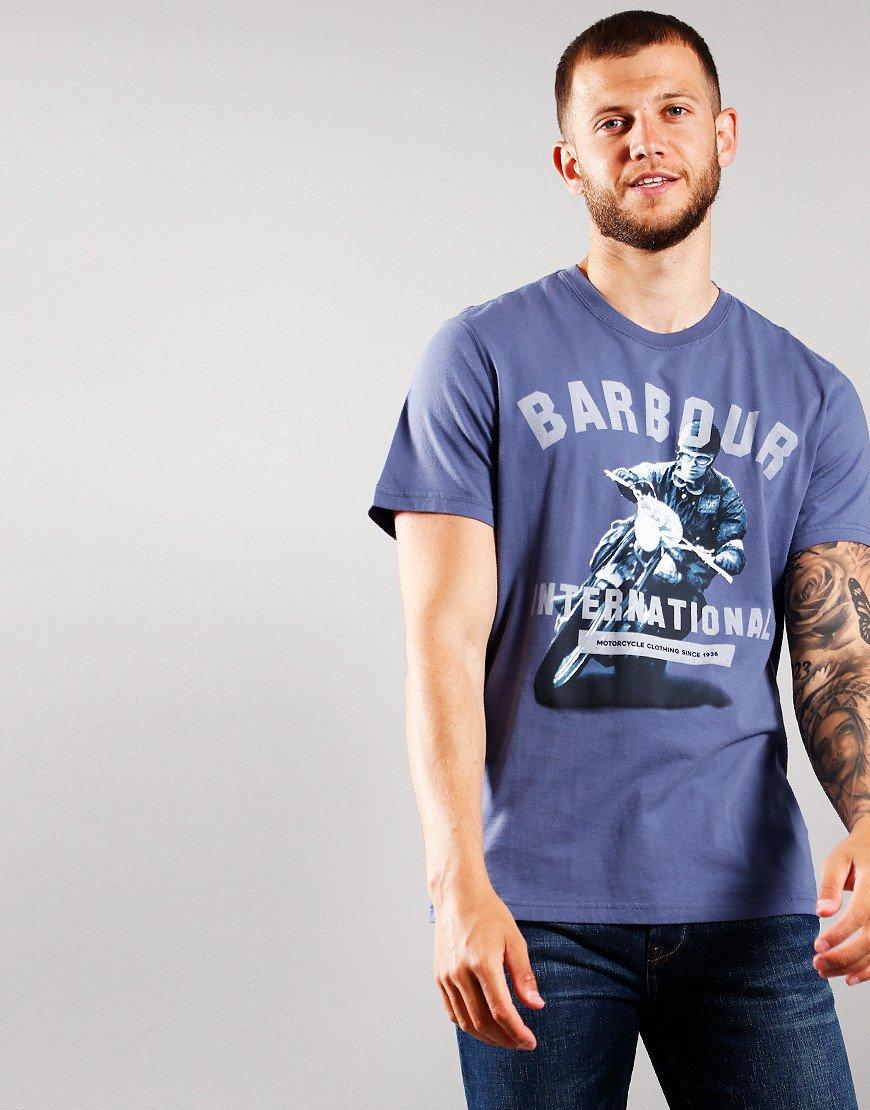 Barbour International Frame T-Shirt Blue Melange