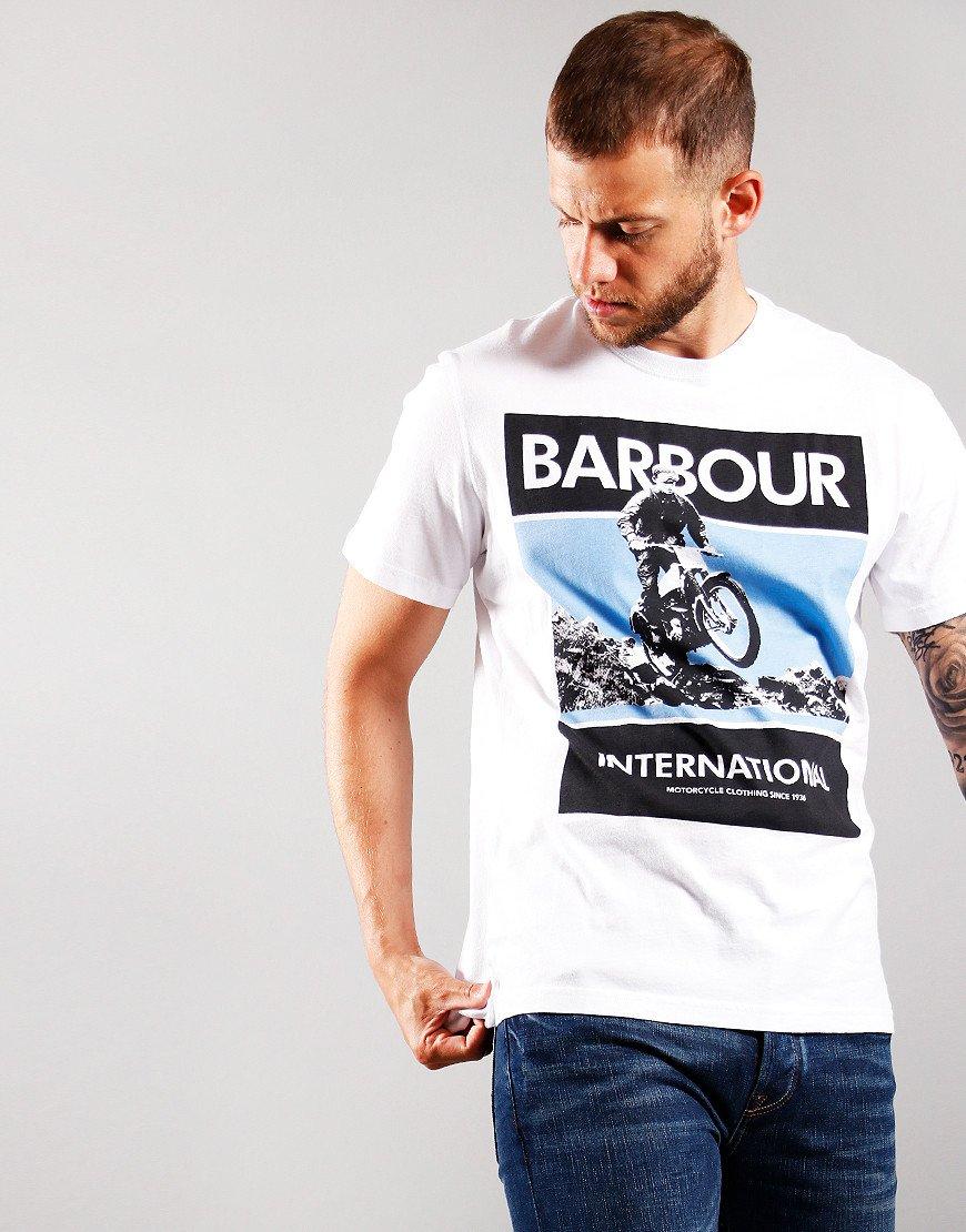Barbour International Frame T-Shirt White