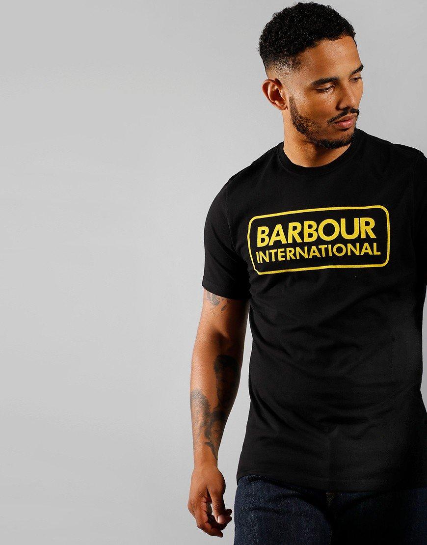 Barbour International Essential Large Logo T-Shirt Black/Yellow