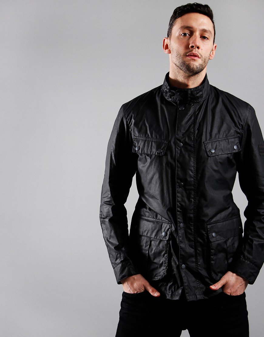Barbour International Lightweight Duke Wax Jacket Black