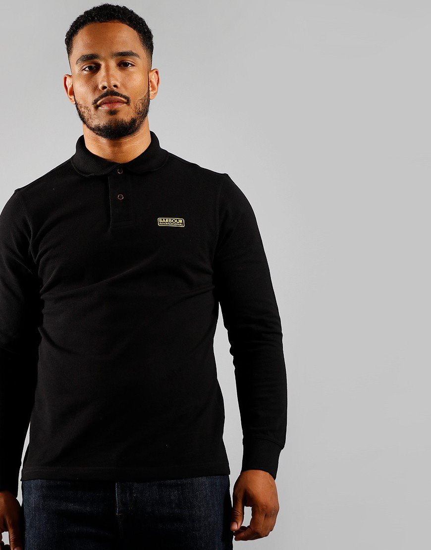 Barbour International Long Sleeve Polo Shirt Black